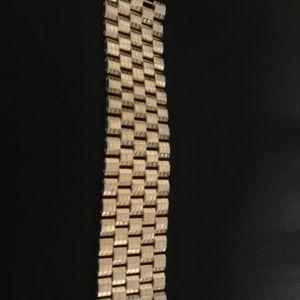 Kreisler wide articulated banded gold Bracelet